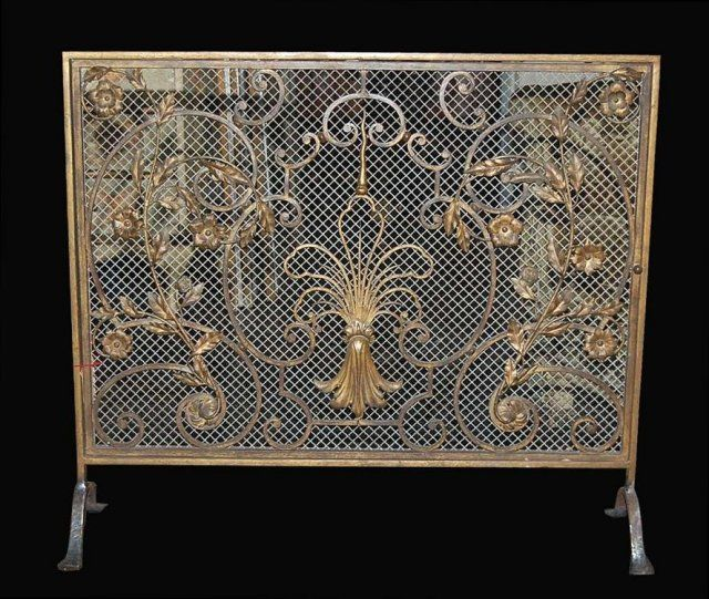 French Fire Screen Superb French Handmade Fire Screen For Sale