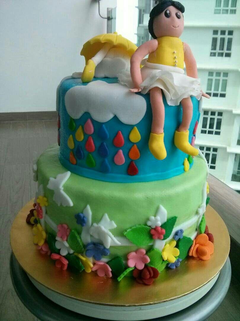 Rainy day cake cake cake designs birthday cake