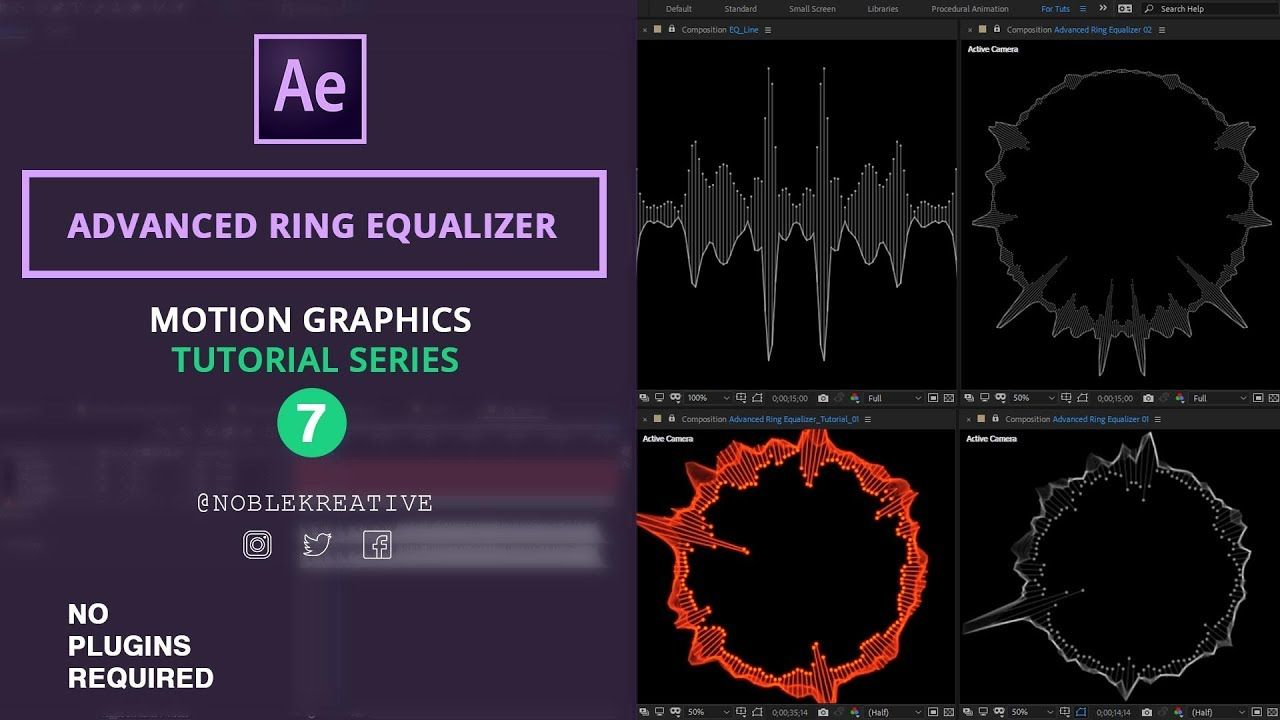 Advanced Ring Equalizer In After Effects No Plugin Required Motion Graphics Tutorial Equalizer After Effects