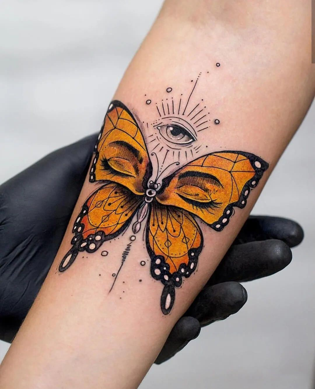 Tattoo Manuscript Material Issue 10 Eyes Tattoos Design In 2020 Unique Butterfly Tattoos Eye Tattoo Tattoos
