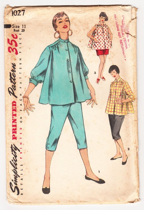 Vintage 1954 Simplicity 1027 Sewing Pattern by SewUniqueClassique, $10.00