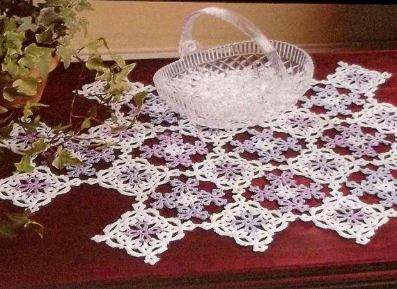 Crochet Pattern Doily Dresser Scarf Out By Hookandneedlepattern 2 75
