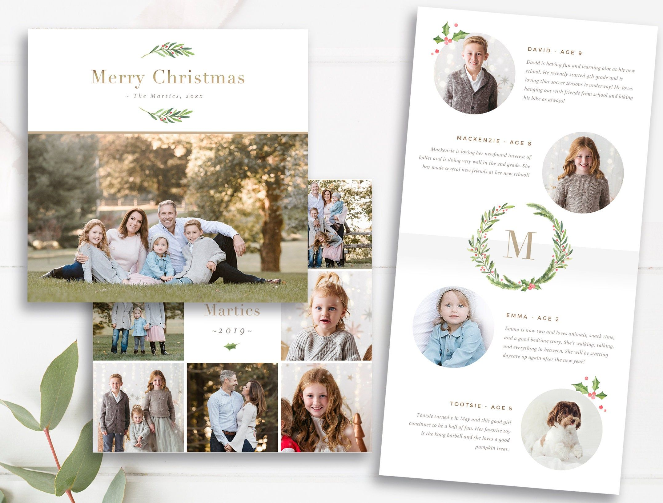 Folded Christmas Card Pano Spreads Millers Lab Folded Card Etsy In 2021 Christmas Card Template Photoshop Template Design Card Template