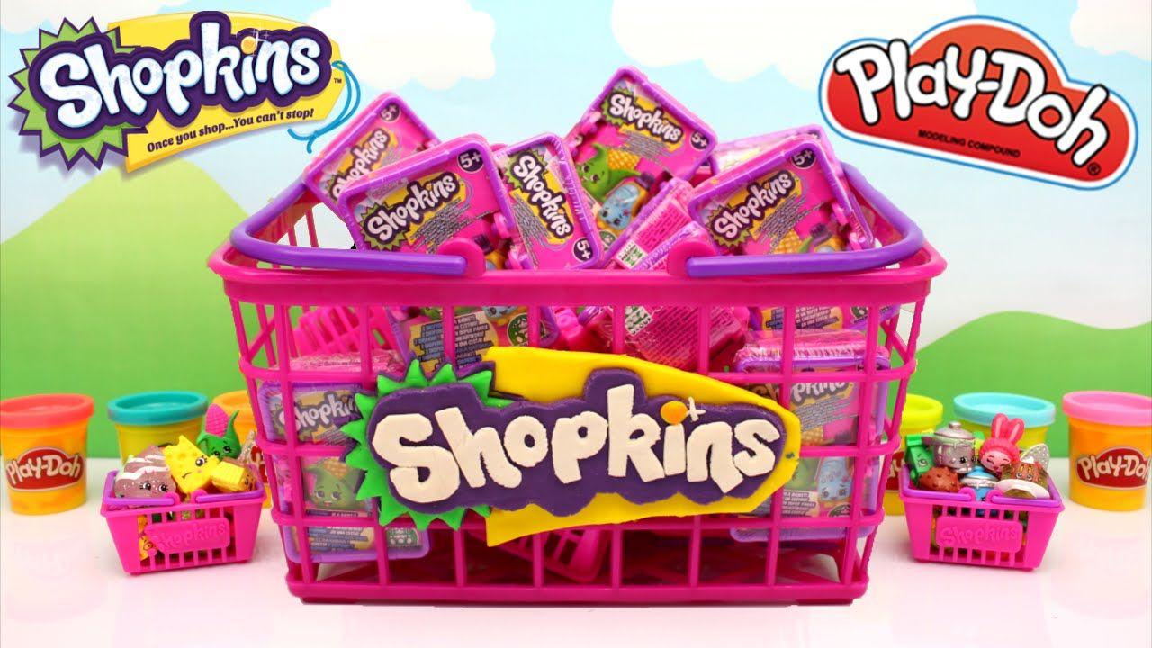Shopkins Season 2 GIANT Basket with Shopkins Blind Bags