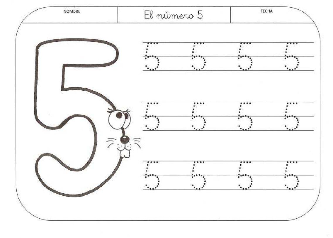 Scribd   EJERCICIOS NÚMEROS 4-5 AÑOS   Pinterest   Schulanfang ...