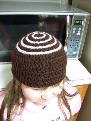 Free Girl's Chocolate Truffle Hat Crochet Pattern - Orble