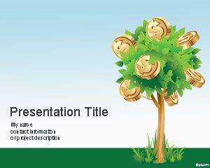 money tree powerpoint template is a free money powerpoint template, Modern powerpoint