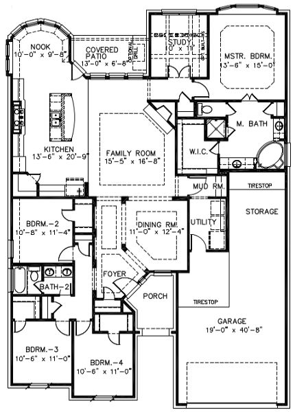 Belmeade I Like The Angled Entryway Floor Plans Simple Floor Plans House Plans