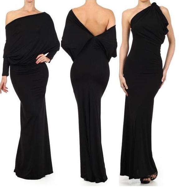 Ooh La La Convertible Maxi Dress | Plunging neckline, Convertible ...