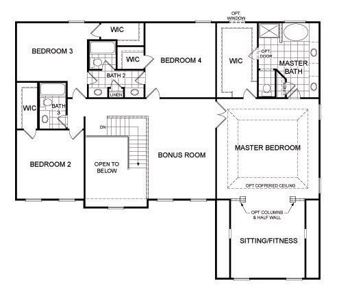 New Homes St Louis Mo St Louis New Home Builder Pulte Homes Bedroom Floor Plans House Floor Plans Pulte Homes