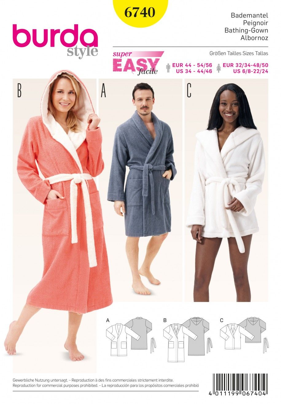 Get comfortable in this dressing gown pattern, including a shorter ...