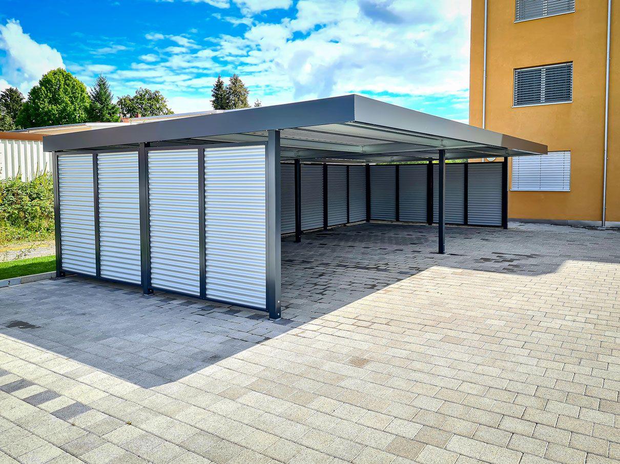 Carport Mit Sichtschutz In 2020 Eingang Uberdachung Carport Eingangsuberdachung