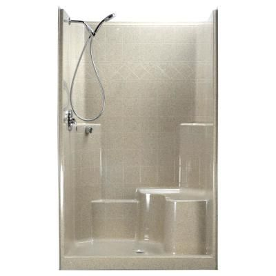 Ella 48 In X 37 In X 80 In 1 Piece Low Threshold Shower Stall