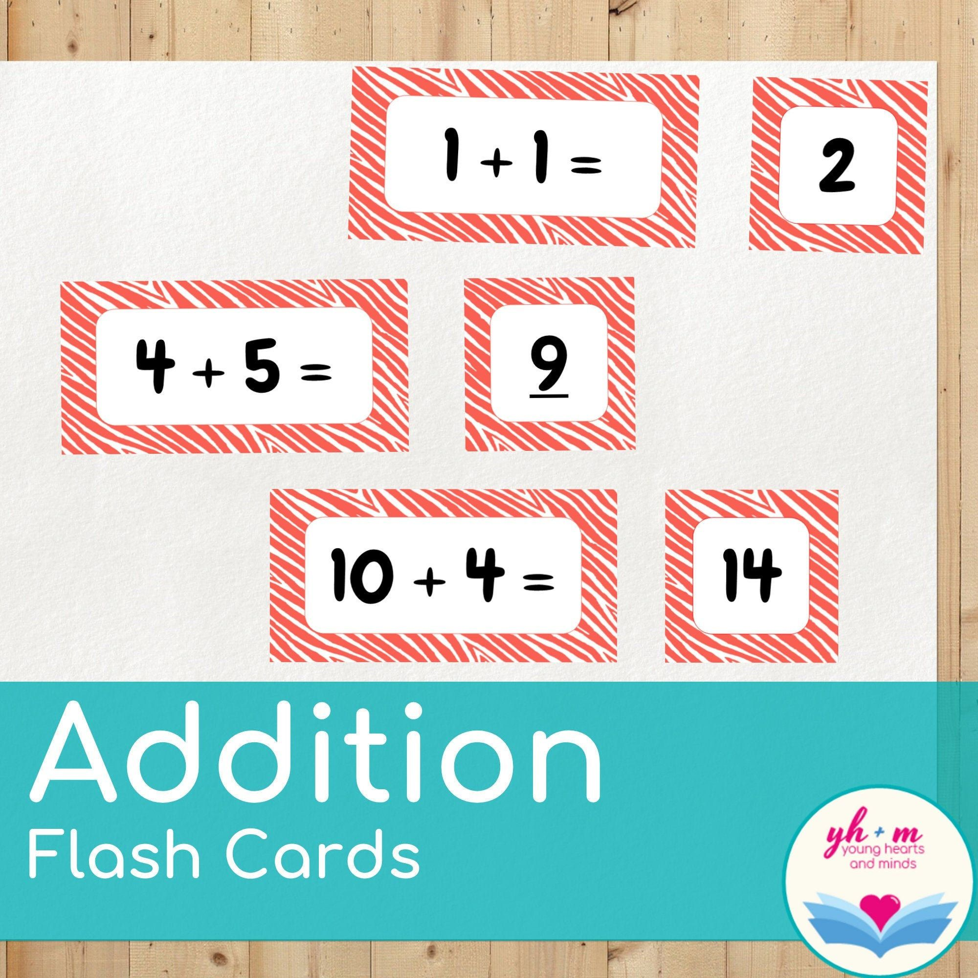 Addition Flash Cards Math Fact Practice Adding 0 10 For Etsy Addition Flashcards Kindergarten Flash Cards Math Fact Practice Addition math facts flashcards printable