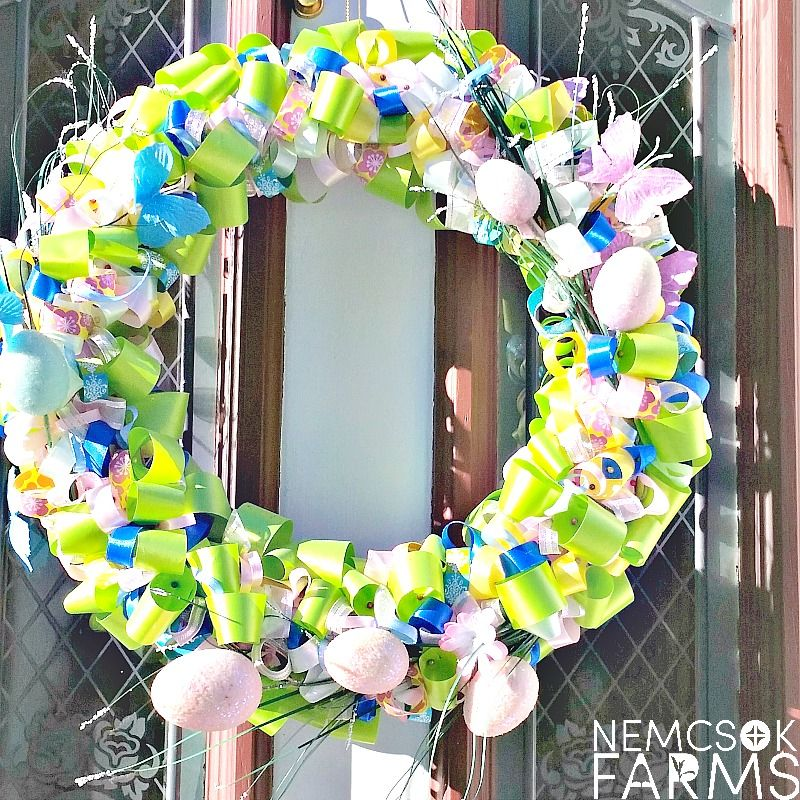 Photo of DIY Easter Ribbon Wreath Tutorial – Nemcsok Farms