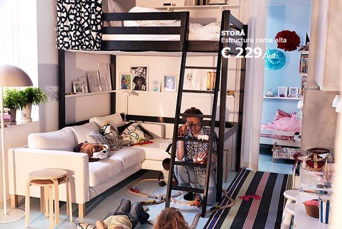 Cama Alta Stora De Ikea Para Espacios Pequenos Con Imagenes