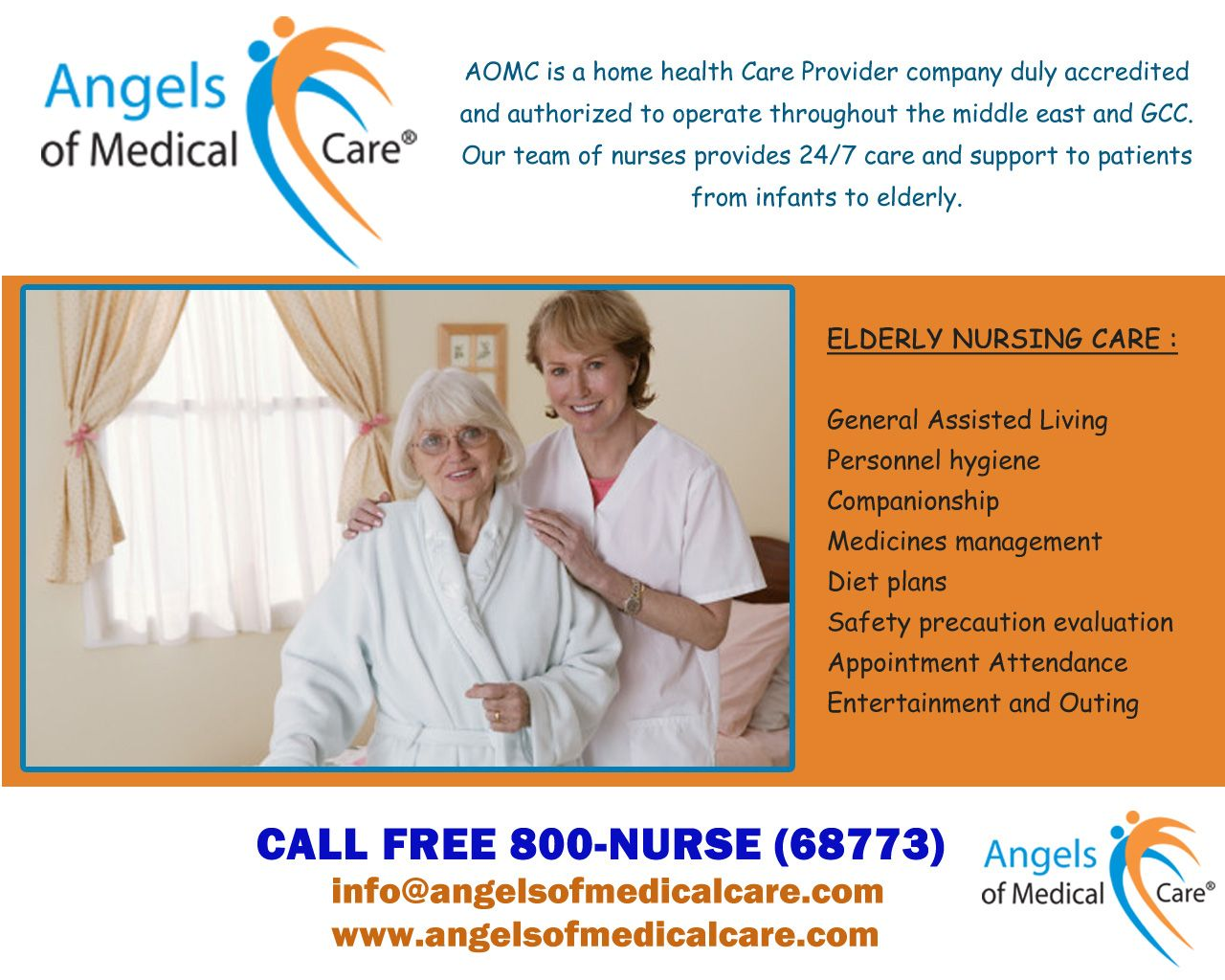 Angels Of Medical Care Offers Best Home Care And Nursing Care In Dubai We Are Specialized In Home Nursing Eld Elderly Home Care Nursing Care Home Health Care