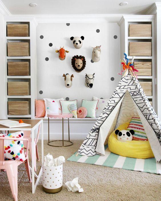 Crear un espacio de juegos para el bebé | Espacios de juego, Rincón ...