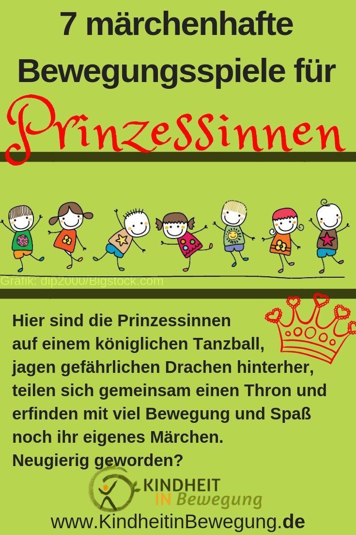 7 märchenhafte Bewegungsspiele für Prinzessinnen, #Bewegungsspiele #für #märchenhafte