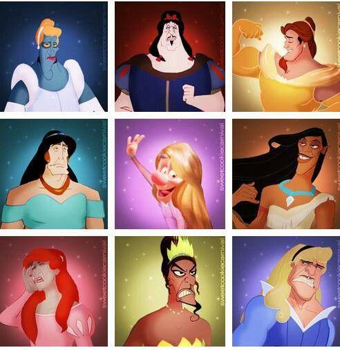 Villans as princesses