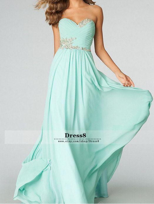 c0ca82c08fcb 2014 New Tiffany Blue Bridesmaid Dress Sexy Sweetheart di DRESS8 ...