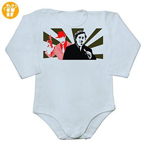 Drug Cartel Flag Art Baby Long Sleeve Romper Bodysuit Small - Baby bodys baby einteiler baby stampler (*Partner-Link)