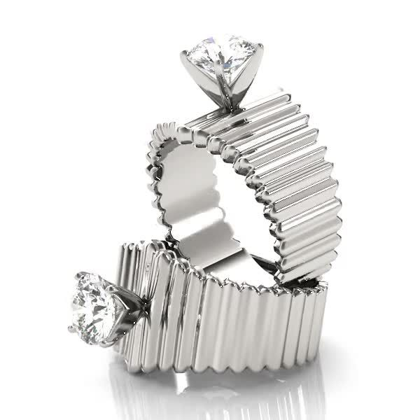 Engagement Ring -Modern Solitaire Engagement Ring,