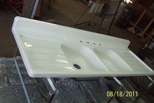 real porcelain enamel coating to restore your drainboard sink tub or stove  vintage kitchen     real porcelain enamel coating to restore your drainboard sink tub      rh   pinterest com