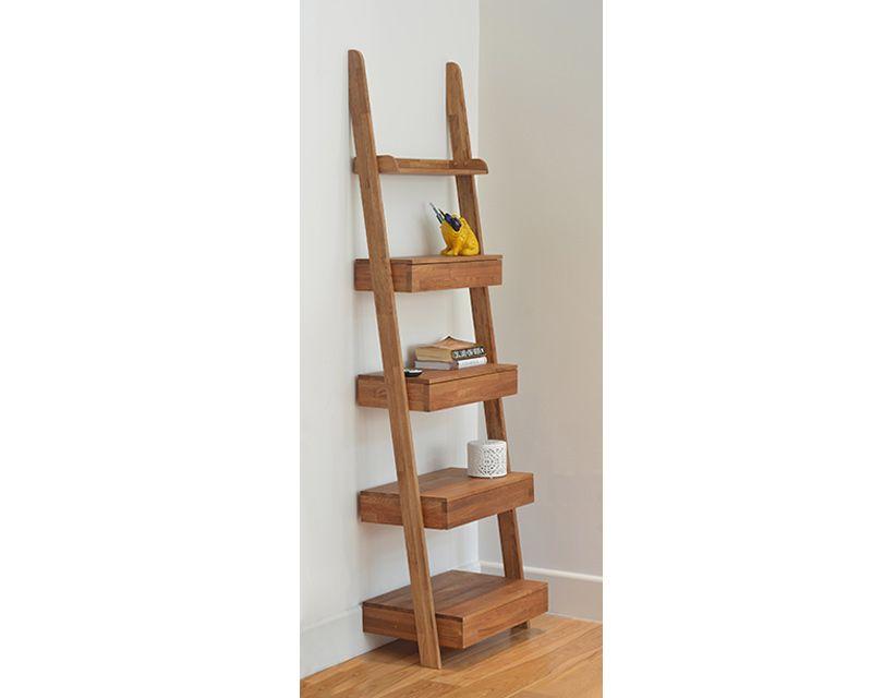 Oak Ladder Shelf Oak Ladder Shelf Wood Side Table Living Room Living Room Side Table