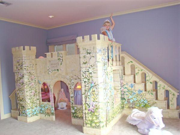 chateau-chambre-princesse.jpg (600×450) | Salles de jeux enfants ...