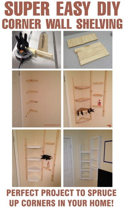 How To Build Simple Corner Wall Shelving Yourself Diy