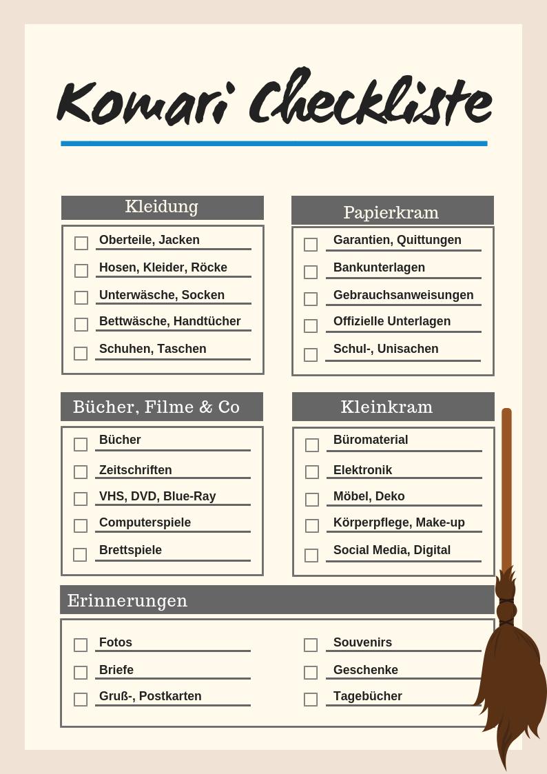 Ausmisten mit der Konmari Methode: Erfahrungen & Checkliste zum Download #kitchentips