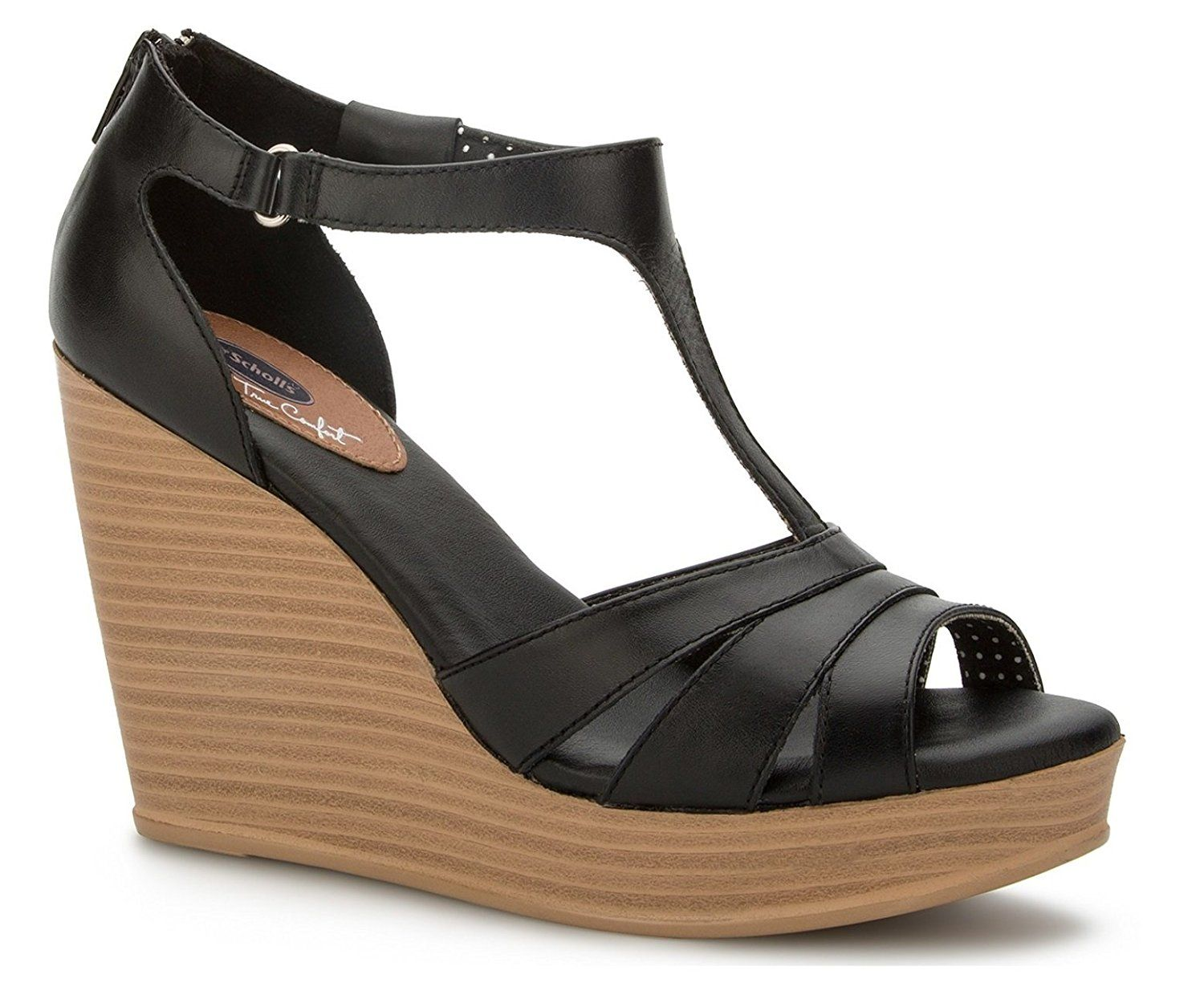 Beautiful Colour Marco Tozzi Wedge Sandals In Blacks Sandals Products Counter Genuine