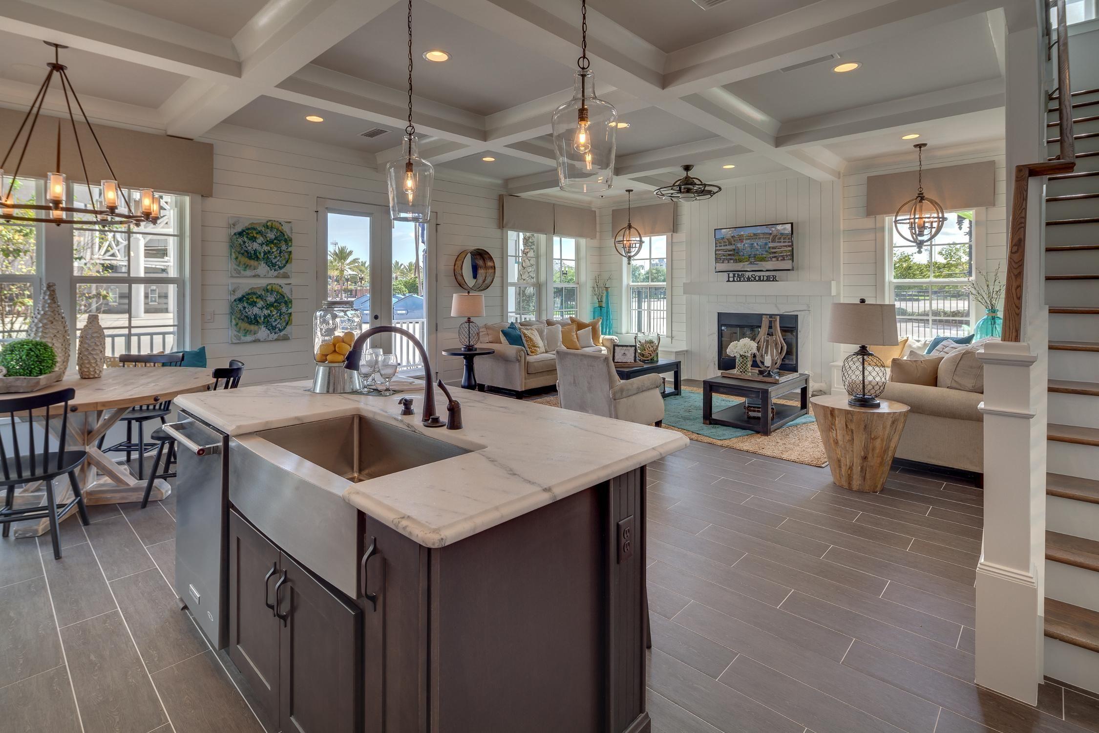 Kitchen Model Homes dreamfindershomes.kitchenview3 | rustic coastal chic | pinterest
