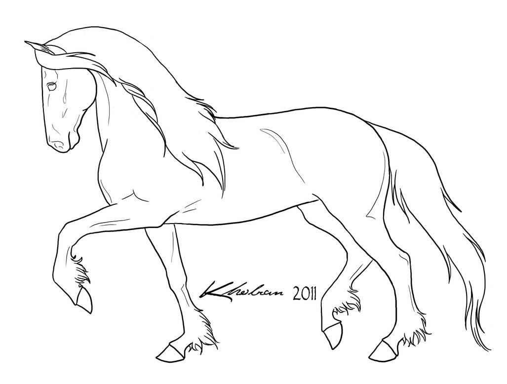 Friesian Lineart By Kholran On Deviantart Paard Tekeningen Dieren Tekenen Paard Silhouet