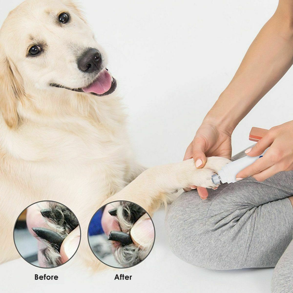 Drop Ship Electric Pet Paws Nail Grinder Claw Grooming Trimmer For Dog Cat Gift Clippers Trimmers Nail Tools Kits Wholesale Dog Nails Cat Nails Grooming Tools