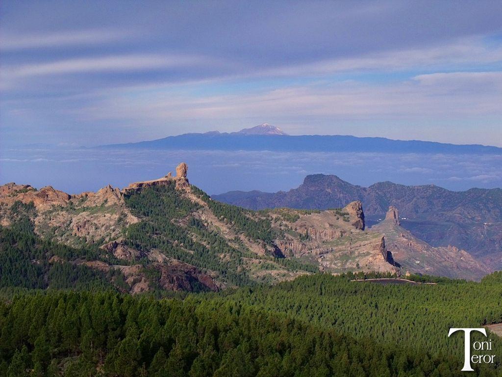 El Roque Nublo y El Teide #GranCanaria #Canarias