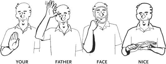 Your Father Face Nice Asl Sign Language Sign Language Interpreter Sign Language