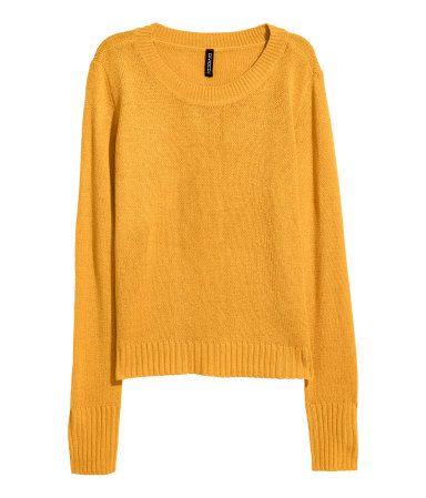 bc10ee9dc01f Jersey de punto   Amarillo mostaza   MUJER   H&M MX   clothes ...