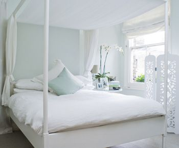 "Bedroom Decorating Ideas Duck Egg Blue the duck egg blue wall is 'pavillion blue"" from farrow & ball"