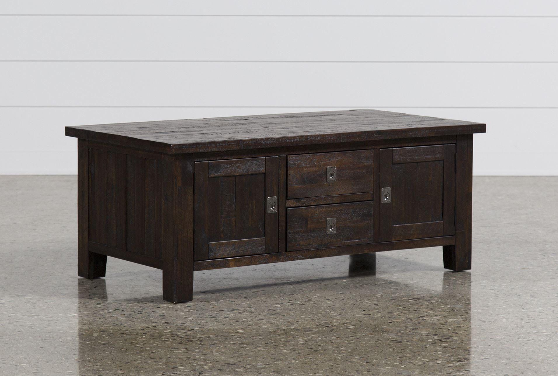 Palmer storage cocktail table brown coffee tables storage brown