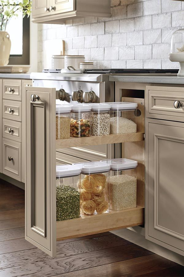 Keep dry goods organized, fresh and in full view using ...