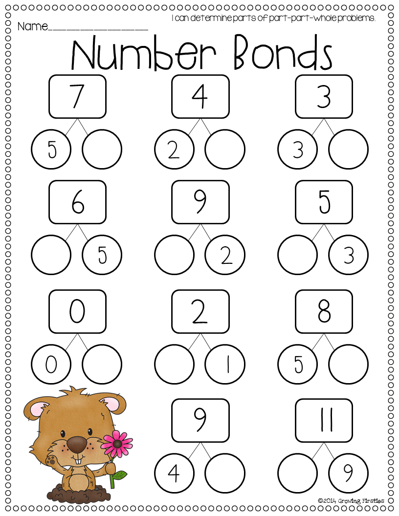 worksheet Number Bond Worksheets 1st Grade february math ela printables common cores and core crunch math
