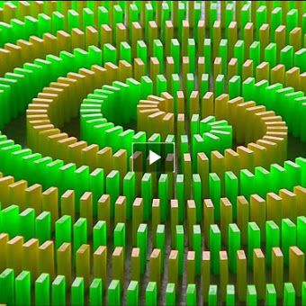 Dominoes Wow Super Things That Make Me Laugh Pinterest - Video dominoes falling reverse simply mesmerizing