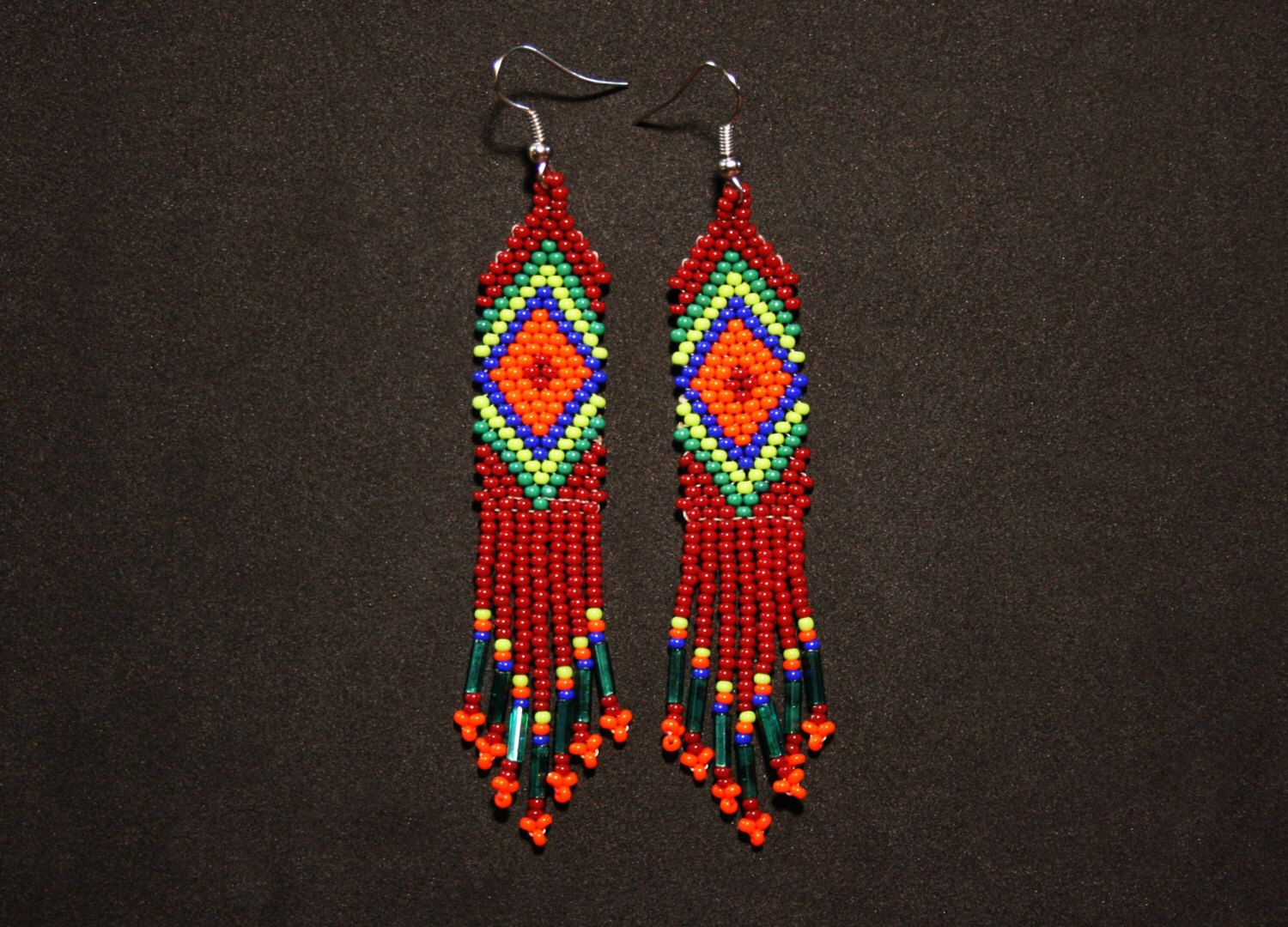 beaded stitch wildwood earrings native makers brick born market