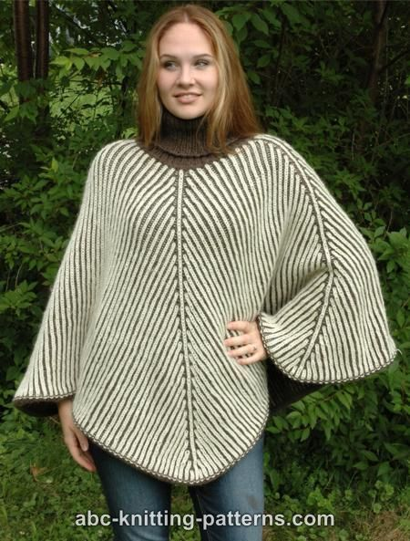 Abc Knitting Patterns Reversible Brioche Poncho Knitting In The