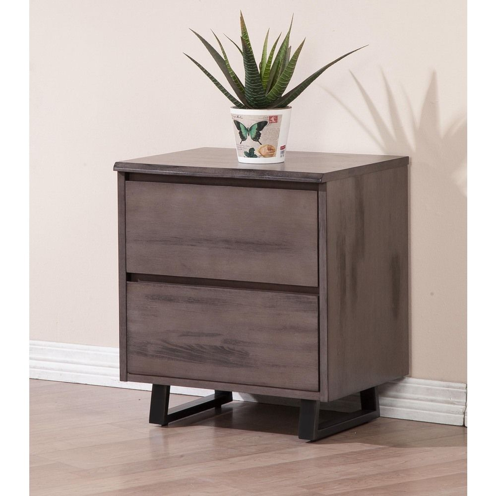 Live edge rustic wood drawer nightstand overstock shopping