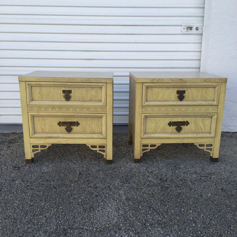 Vintage Dixie Furniture Shangri La Nightstands CHINOISERIE IDEAS - Dixie furniture bedroom set