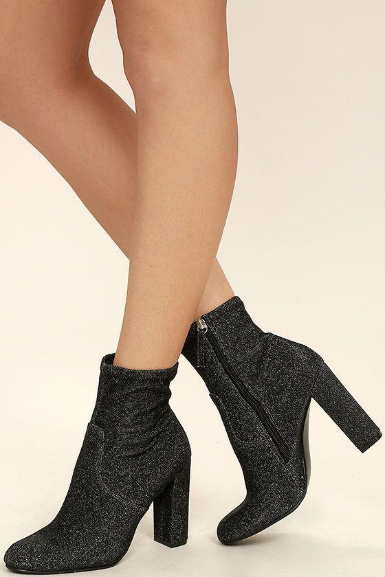 ddcf3a09e20 Steve Madden Edit Metallic Knit High Heel Mid-Calf Boots   Shoes ...