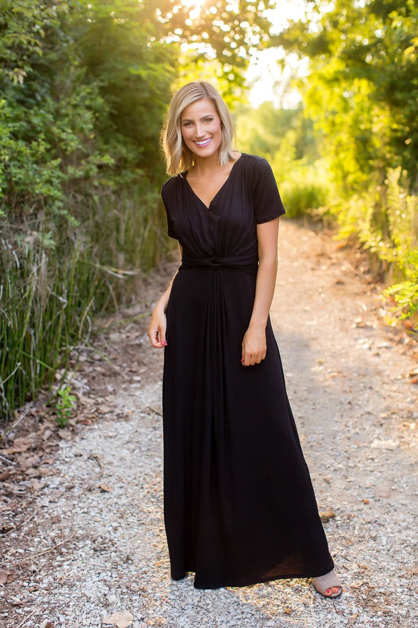 f7e6acdfc8f7 Dottie Couture Boutique, Black Maxi, Spandex Fabric, Classy Dress, Half  Sleeves,